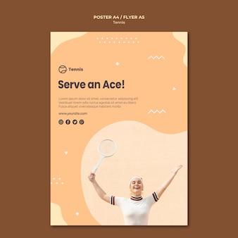 Concepto de cartel estilo tenis