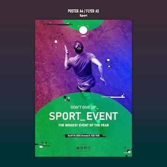 Concepto de cartel de plantilla deportiva