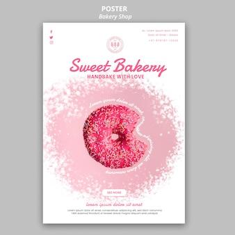 Concepto de cartel de tienda de panadería