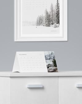 Concepto de cartón para maqueta de calendario