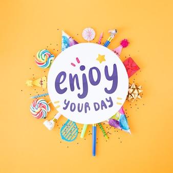 Concepto colorido feliz cumpleaños