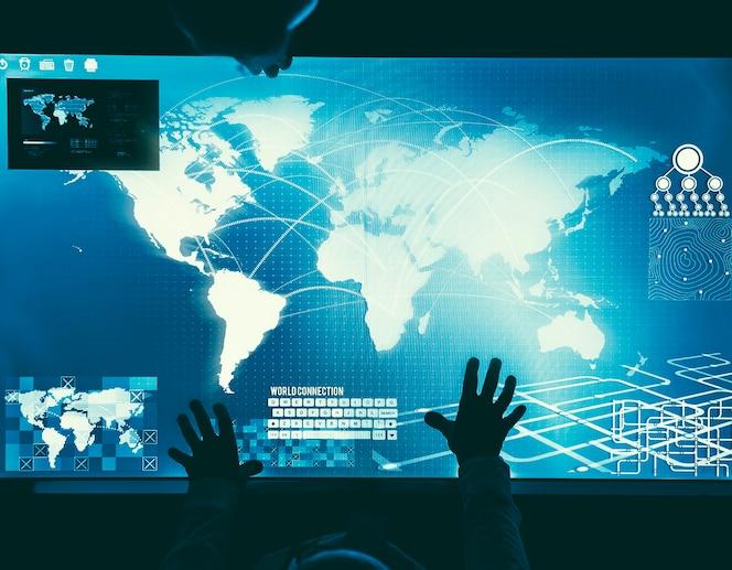 Concepto de negocio global futurista