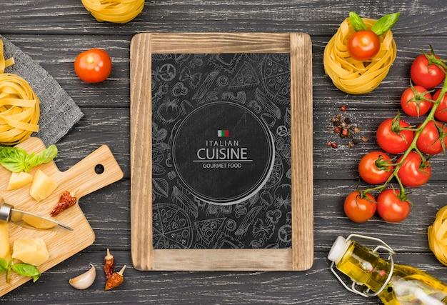 Concepto de deliciosa comida cocina italiana