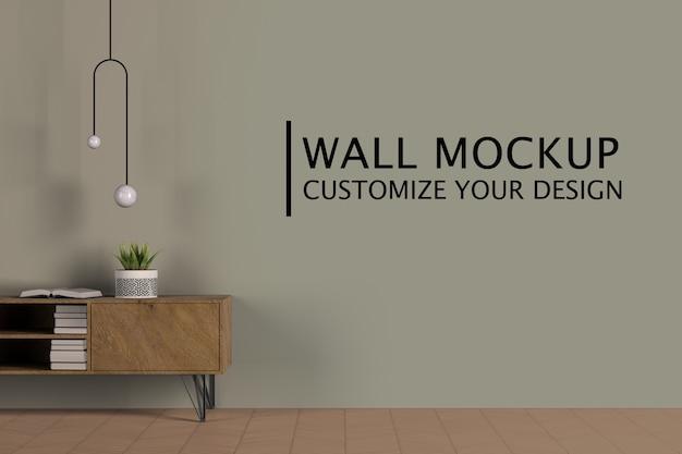 Concepto de diseño interior minimalista.