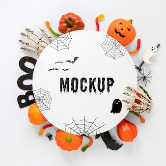 Concepto de halloween de diseño de maqueta