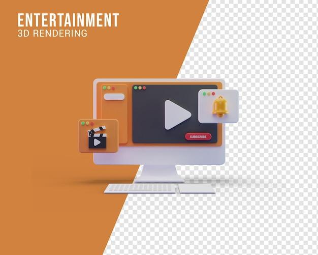 Concepto de ilustración de entretenimiento, renderizado 3d