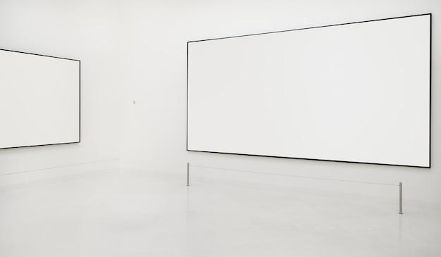 Concepto de marco antiguo de la galería de arte