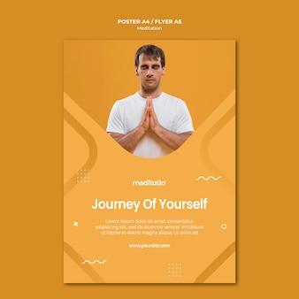 Concepto de meditación de diseño de carteles