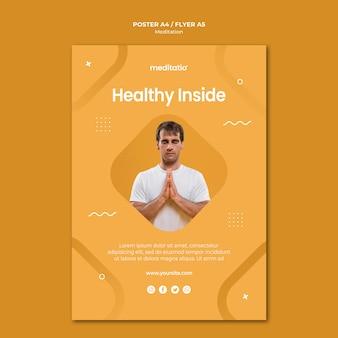 Concepto de meditación estilo póster