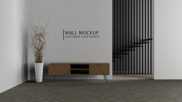 Concepto de minimalismo de decoración de interiores