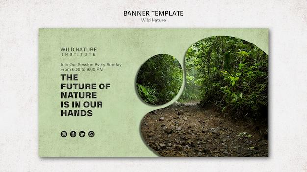 Concepto de naturaleza salvaje para plantilla de banner