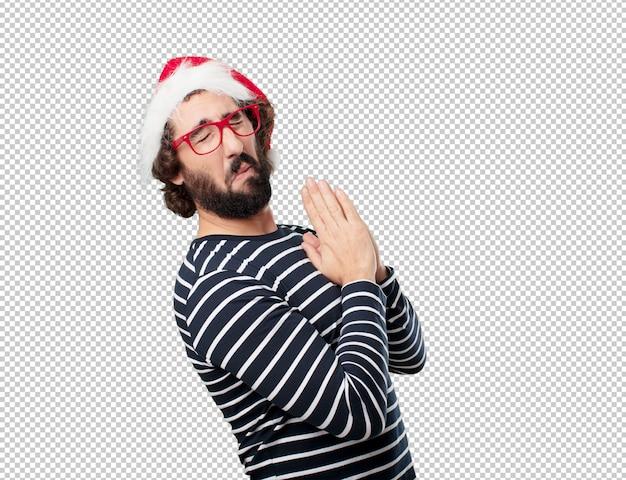 Concepto de navidad joven