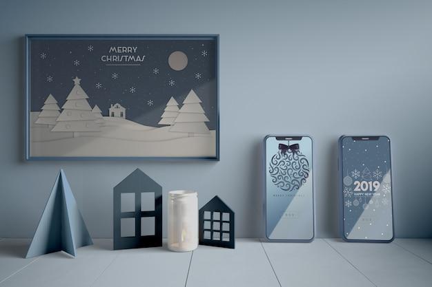 Concepto de navidad en pintura