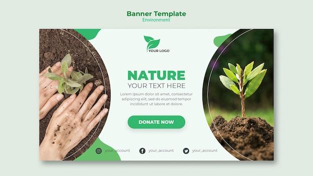 Concepto de plantilla de banner ecológico