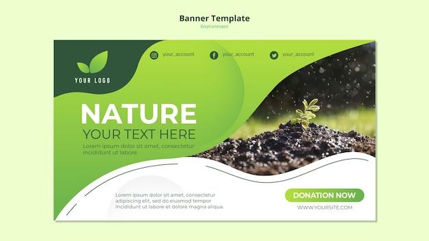 Concepto de plantilla de banner de la naturaleza