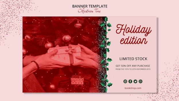 Concepto de plantilla de banner de navidad