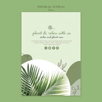 Concepto de plantilla de cartel de plantas