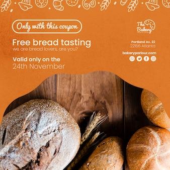 Concepto de plantilla para negocio de pan