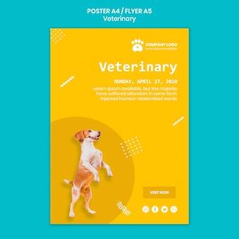 Concepto de plantilla de poste veterinario