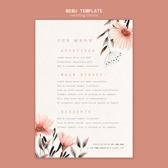 Concepto de plantilla de póster de boda
