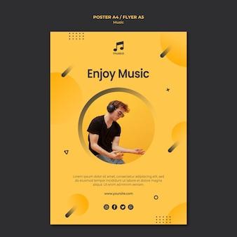 Concepto de plantilla de póster de música