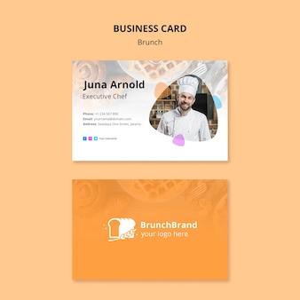 Concepto de plantilla de tarjeta de visita de brunch