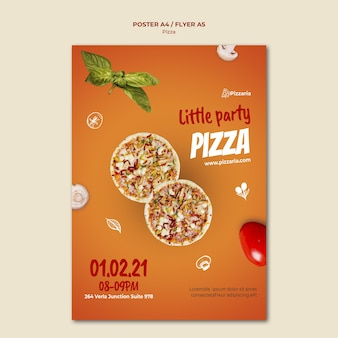 Concepto de plantilla de volante de pizza