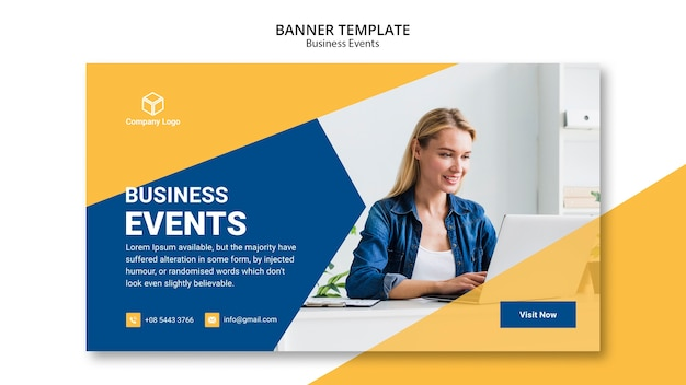 Concepto de plantilla web de banner de negocios