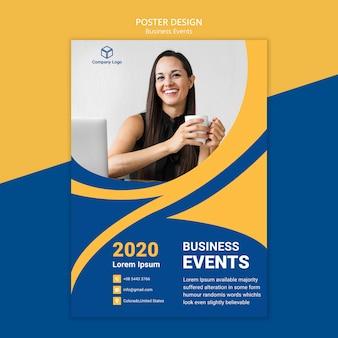 Concepto de plantilla web de póster de negocios