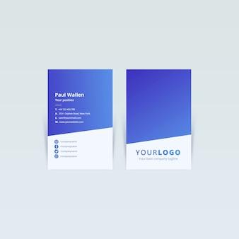 Concepto de plantilla web de tarjeta de visita