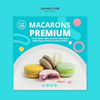 Concepto premium de macarons dulces