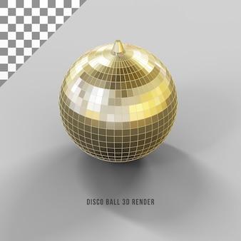 Concepto de render 3d de bola de discoteca