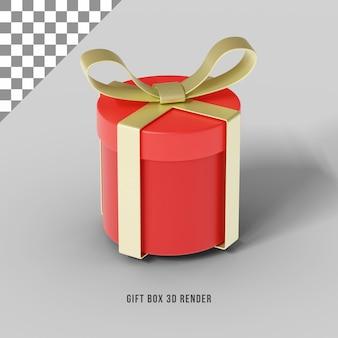 Concepto de render 3d de caja de regalo