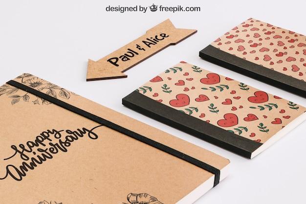 Concepto stationery de cartón