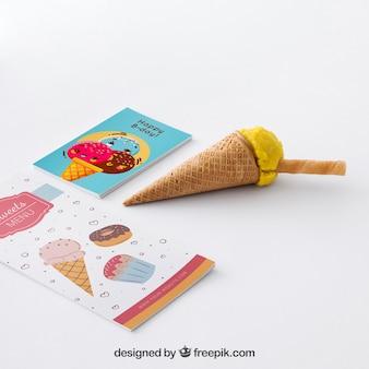 Concepto stationery de helado