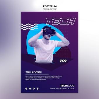Concepto de tecnología para plantilla de póster