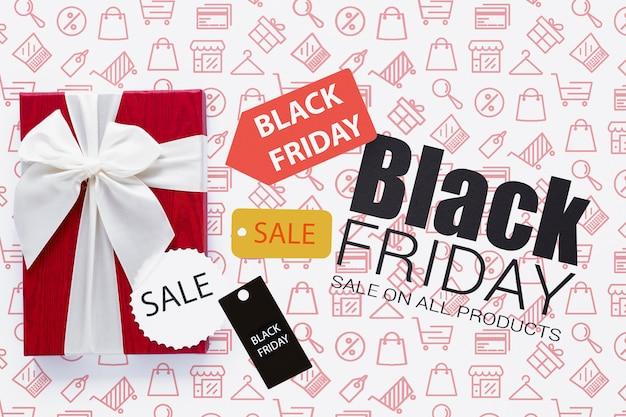 Concepto de ventas de viernes negro con descuentos