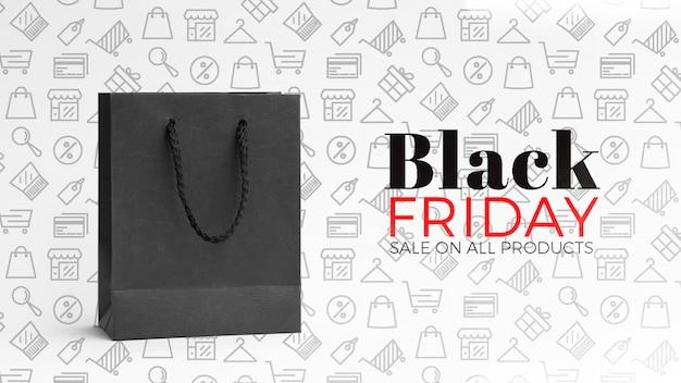 Concepto de viernes negro con fondo liso PSD gratuito