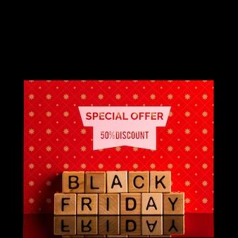 Concepto de viernes negro con oferta especial PSD gratuito