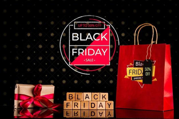 Concepto de viernes negro con oferta especial