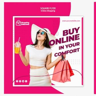 Concepto de volante en línea de compras