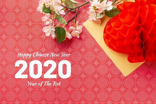 Concetto cinese di nuovo anno con mock-up