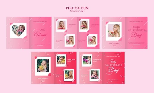 Concetto di album fotografico per modello di san valentino