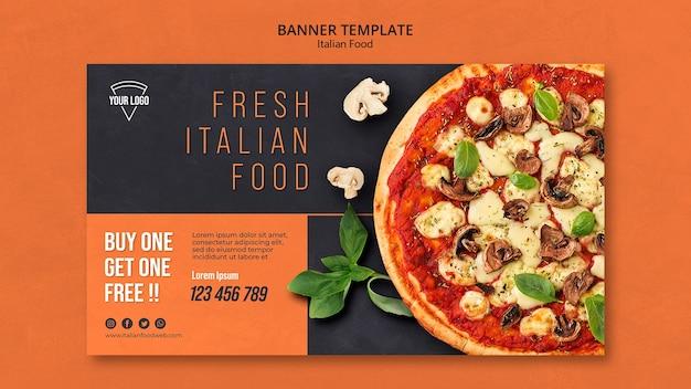 Concetto di banner di cibo italiano