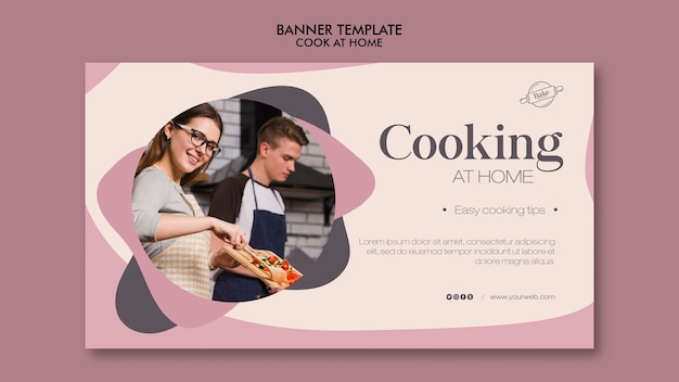 Concetto di banner di cucina a casa