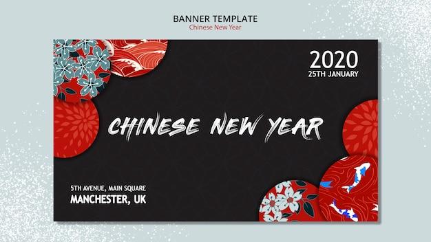 Concetto di banner per il nuovo anno cinese