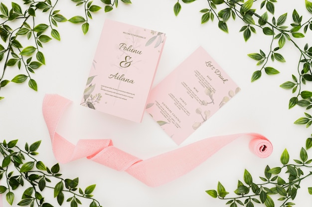 Concetto di bel matrimonio mock-up