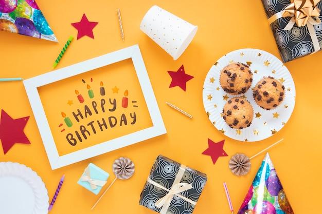 Concetto di buon compleanno mock-up