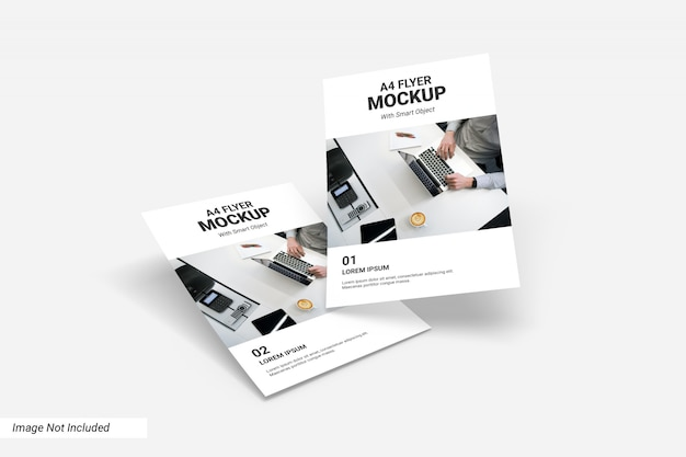 Concetto di business flyer mockup