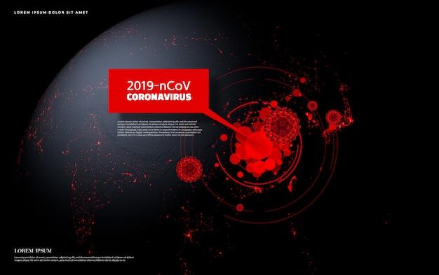 Concetto di coronavirus 2019-ncov